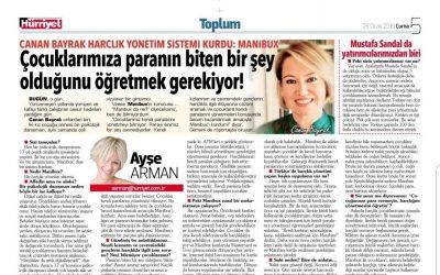 Hürriyet Gazetesi Ayşe Arman Röportajı 25.01.2019